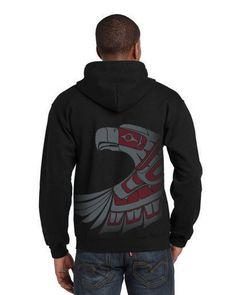 Adult Zippered Hoodie - Eagle Way – Rosey's Trading Post