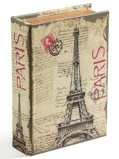Caja libro: I could not find the site but this looks like decoupage. Very pretty