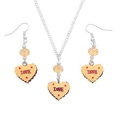 MJartoria Love Mousse Cake Pendant Adjustable Cuban Chain Necklace with Matching French Wire Earrings MJartoria http://www.amazon.com/dp/B00Y040OZS/ref=cm_sw_r_pi_dp_DZBzvb0A9XCYT