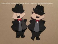 Men of Mystery made with Stampin' Up Owl Punch --- (I pinned this before, BUT this pin goes to original post by Ellen Kemper)