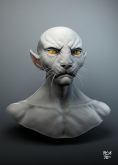 Okay, I say big 'NAY' to cat humanoids in general, but this baby deserved my approval cause he so much looks like a spinx - no joke, my most (and only) favorite cat breed! (That's coming from an extreme dog-person.) Alien enough for me!   'Cheetahman' by mojette on DeviantArt