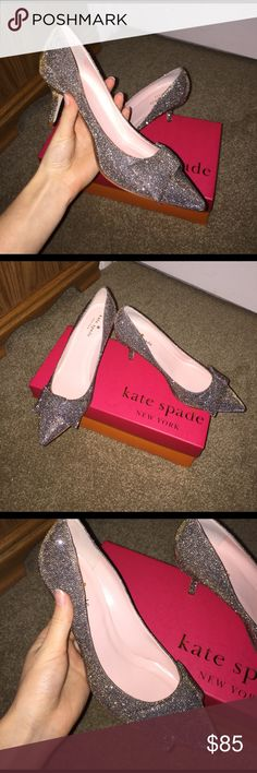 Free gift! 🎀Kate Spade🎀 kitten🐱 heels size 7 Worn once, totally adorable kate spade kitten heels. Pictures do not do them justice, they are adorable! These are TTS 7. Price is firm because of the great condition these are in! Comes with kate spade box! Sold out, not found in any stores or any sites online. (Also comes with pair of kate spade earrings, new)! kate spade Shoes Heels