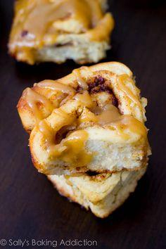 Caramel Apple Cinnamon Rolls by sallysbakingaddiction.com