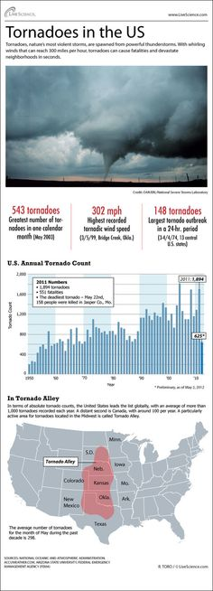 Infographic: stats on the tornadoes that strike the United States every year