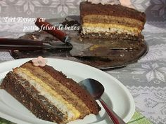 diana's cakes love: Tort Extasy cu patru feluri de bezea Sweet Recipes, Cake Recipes, Dessert Recipes, Romanian Desserts, Food Cakes, Tiramisu, French Toast, Sweet Treats, Cooking Recipes