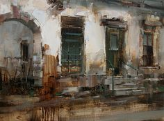 The Green Door by Tibor Nagy Oil ~ 12 x 16