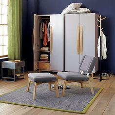 veer grey wardrobe in bedroom furniture cb2 wardrobe bedroom furniture cb2 peg