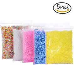 The Best Warm Color Snow Mud Particles Accessories Tiny Foam Beads Slime Balls Supplies Elegant Shape Festive & Party Supplies Event & Party