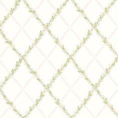 302-66880 Blush Harlequin Trellis - Heirloom - Beacon House Wallpaper