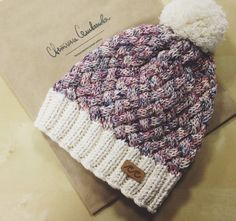 Organic cotton knitted beanie