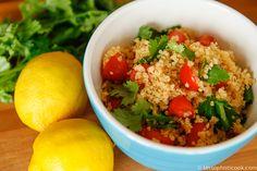 Simple Quinoa and Cherry Tomato Salad   Good Life Eats
