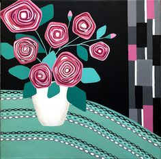 """Everything's Coming Up Roses"" by Lisa Frances Judd. Paintings for Sale. Bluethumb - Online Art Gallery"