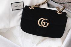 Gucci Bag on saansh.com Gucci Marmont Velvet Bag black