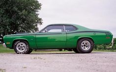1972 Plymouth Duster- My very First Car! Mine was orange and black though
