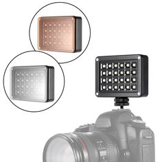 17.89$  Buy here - http://ai4kz.worlditems.win/all/product.php?id=D3611 - Andoer T9512 Mini LED Video Light Lamp Panel 95+ 5500K Color Temperature 24pcs LEDs 7 Levels Brightness with 2 Filters for Canon Nikon Sony DSLR Camera Camcorder