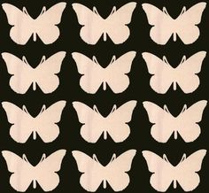 Butterfly Shape Unfinished Craft Wood Cutout 295
