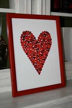 Valentines Day Art - Button Collage Tutorial