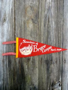 Bryce Canyon National Park vintage felt pennant by OatesGeneral