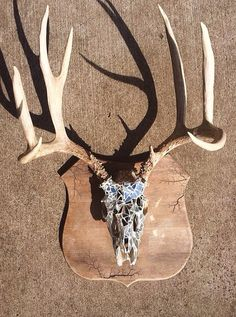 Mirroed Mosaic Deer Skull