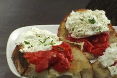 Tom Colicchio's Crostini w/ Roasted Tomatoes & Fresh Ricotta