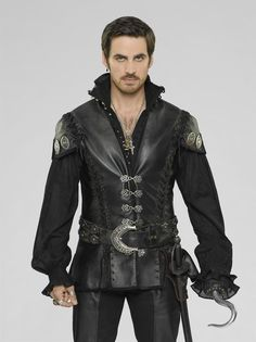 """Killian """"Captain Hook"""" Jones -- new promo shots for S3. You have to be insane enough to say he is not one hell of a sexy pirate ❤"""
