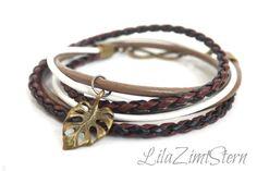 Leder-Armband Endless von LilaZimtStern