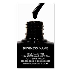 Nail Polish Business Cards Awesome manicure/pedicure business ideas