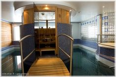 Start with a swimming pool and add a round shaped sauna on top of it! - AWESOME idea.  I had this same thought!!