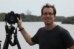 Trey Ratcliff, photographer, in front of Space Shuttle Atlantis by Robert Scoble, via Flickr