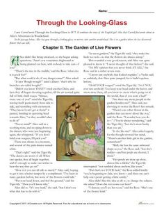 Help your students improve their reading skills with this activity set about the Through the Looking-Glass by Lewis Carroll. Click here to view and print!