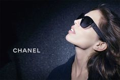 The Chanel Fall-Winter 2012/13 eyewear campaign features the Tweed collection of glasses which features tweed molded onto the rubber stems of glasses.