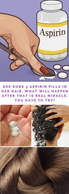 She rubs 3 aspirin pills in her hair. What will happen after that is real miracle. She rubs 3 aspirin pills in her hair. What will happen after that is real miracle. Healthy Beauty, Health And Beauty, Healthy Life, Healthy Skin, Dandruff, Health Remedies, Hair Loss, Hair Growth, Her Hair