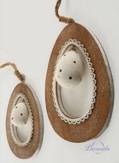 Závesná dekorácia - veľkonočné vajíčko, malé