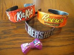 DIY Candy Wrapper Headbands - #Upcycle This! 13 Ways to Reuse Candy Wrappers #crafts #diy
