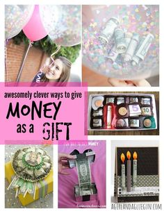 Awesomely Clever Ways to give Money as a Gift: With all the graduation parties coming up use these great ideas to be creative with your gifts, because, I mean, what grad doesn't want $$?