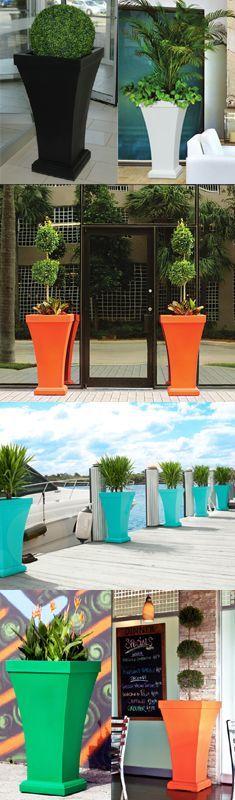 colorful lightweight patio planters at urbilis.com
