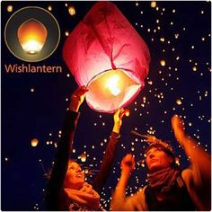 Wishlantern, light it up, watch it leave, track its progress. completely bio degradable and is fireproof