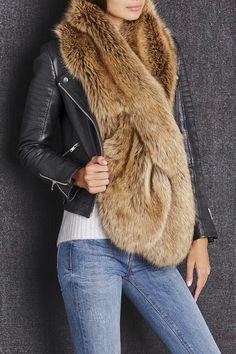 da7e3b569da Brown oversize faux fur wrap