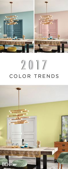 With an array of modern blues, chic blush pinks, and cheery yellows, you're sure to find the paint inspiration you need in the BEHR 2017 Color Trends. Every room of your home will get a makeover thanks to these beautiful new hues.