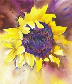 ann blockley | sunflower 2 watercolour and ink 22x181 2in 56x47cm in this