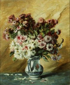 Life imitates art: Bouquet of China Asters, Gustave Caillebotte, French Impressionist, 1887.
