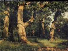 "Ivan Ivanovich Shishkin (1832-1898) ""Oak Forest"" #tree #art #landscape #painting"