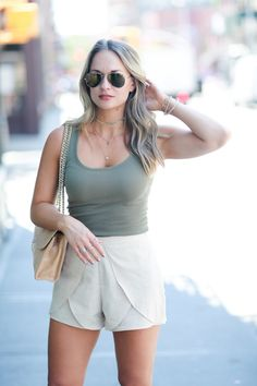 how to style high waisted shorts Shorts: http://rstyle.me/n/bv2x39bkj7f or http://rstyle.me/n/bv2xzwbkj7f Tank: http://rstyle.me/n/bv2xmhbkj7f Bag: http://rstyle.me/n/bsy76zbkj7f Sunglasses: http://rstyle.me/n/bq3fhebkj7f Choker: http://rstyle.me/n/bv2xgsbkj7f Necklace:http://rstyle.me/n/btnwgdbkj7f Shoes: http://rstyle.me/n/bvsg2zbkj7f