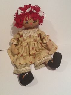 My first attempt at a raggedy Ann doll