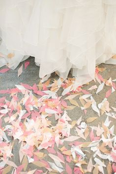 Wedding Day Confetti on the sidewalks . Perfect Wedding, Our Wedding, Dream Wedding, Wedding Designs, Wedding Styles, Wedding Paper, Jelsa, Handmade Wedding, Wedding Bells