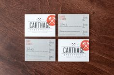 Best business card created for a client; by Design Ranch