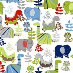 White Tossed Dinosaur FLANNEL from AE Nathan. Cotton Flannel, per sq yd Rag Quilt, Quilts, Dinosaur Fabric, Elephant Fabric, Fabric Shower Curtains, Fabric Online, Quilting Projects, Flannel, Kids Rugs