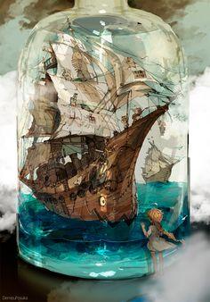 Bottled Ship by Demizu Posuka