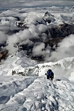 Descending Chopicalqui's Summit