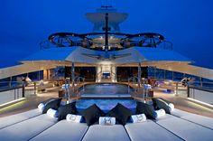 Palladium Superyacht Symmetrical Aft Deck Pool View
